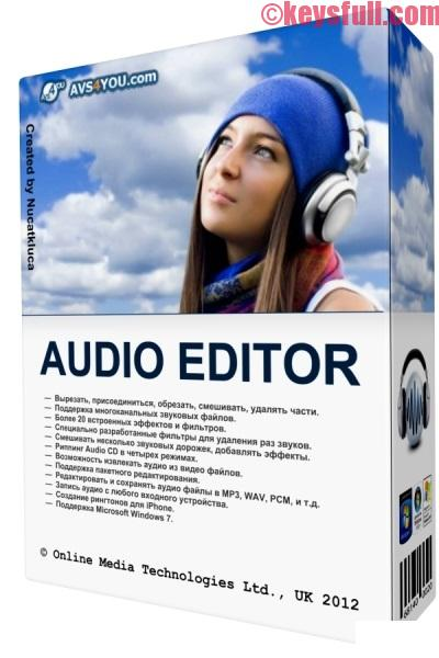 AVS Audio Editor 8.2.1.513 Crack, License Key Download