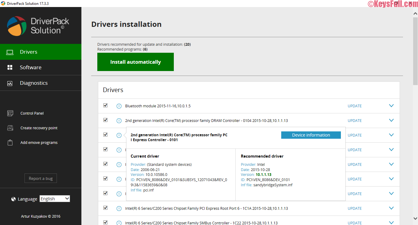 DriverPack Solution Offline 17.7.5 Final ISO 2016