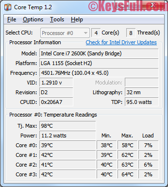 Core Temp 1.2 Full Version Crack Free Download (1)