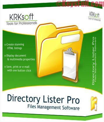 Directory Lister Pro 2.08 Full Crack Free Download