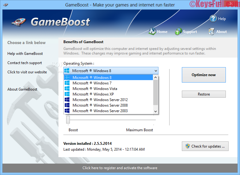 GameBoost 3.8.1.2016 Full Crack Free Download