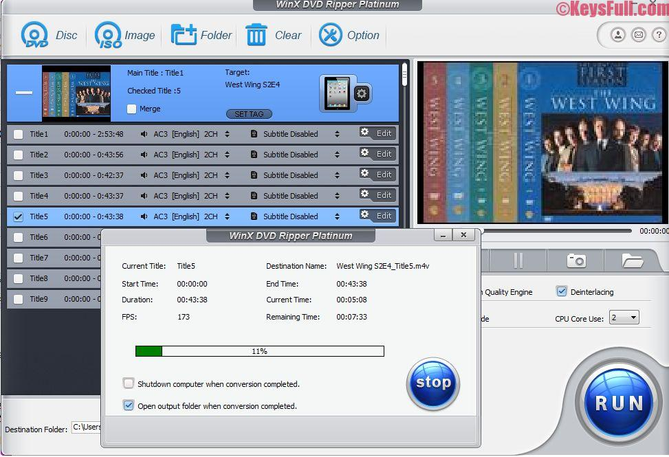 WinX DVD Ripper Platinum 8.5.1 Full Keygen Free Download