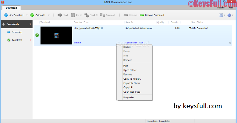 MP4 Downloader Pro 3.16 Full License Key Download