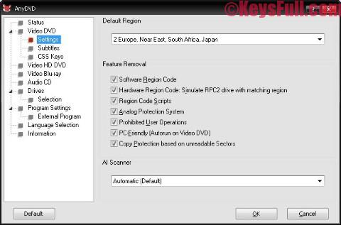 AnyDVD & AnyDVD HD 8.0.9.0 Crack Plus Key Download