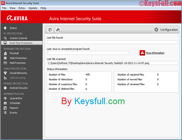 Avira Internet Security suite v15 License Key 2017 Plus Crack