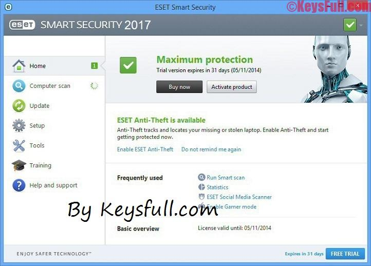 ESET Smart Security 2017 Keys Available Here!
