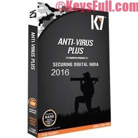 K7 AntiVirus Plus 15.1 Activation Key 2016 Free Download