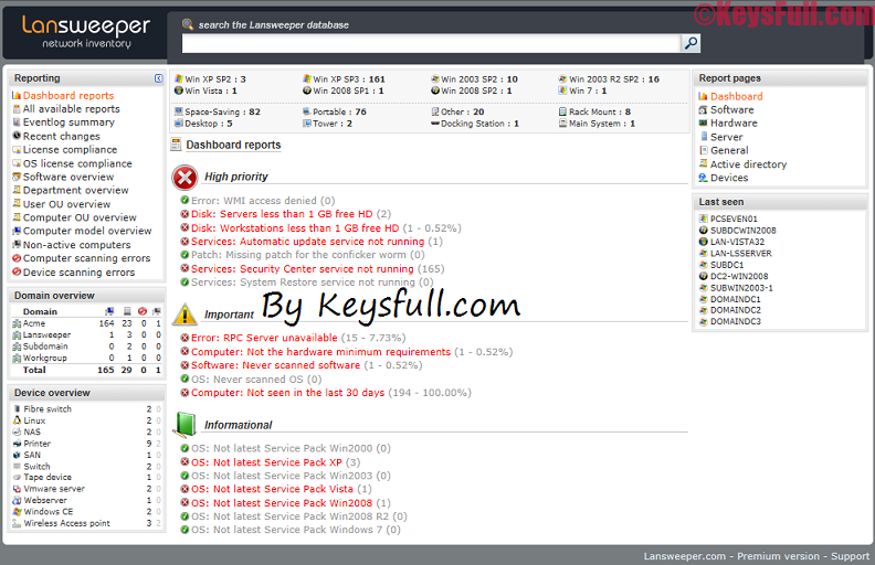 Lansweeper 6.0 Premium Crack Plus Keygen