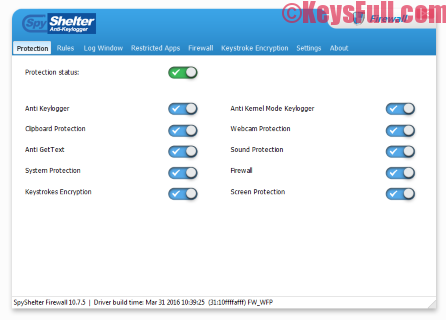 SpyShelter Anti-Keylogger 10.8 Premium Key 2016 Download