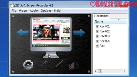 ZD Soft Screen Recorder 10.1 Crack + Serial Key