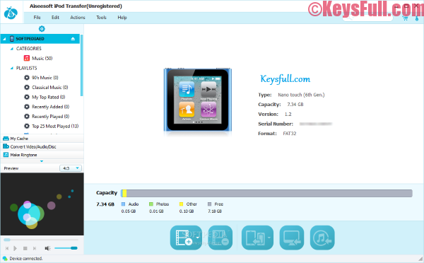 Aiseesoft iPod Transfer 8.3.30 Registration Code With Crack