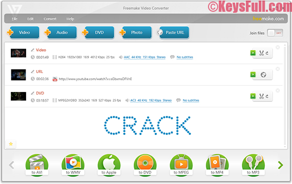 Freemake Video Converter 4.1.9 Serial Key + Crack