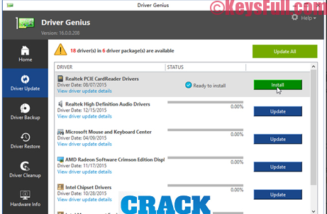 Driver Genius Professional 17.0 Full Crack & License Key
