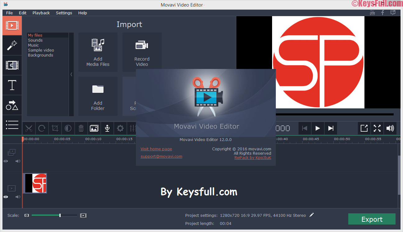 Movavi Video Editor 12.1 Full Version Crack