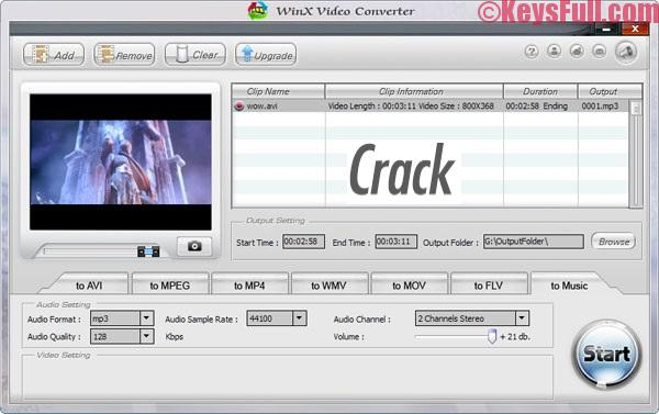 WinX Video Converter 5.9.8 Platinum Serial Key 2017