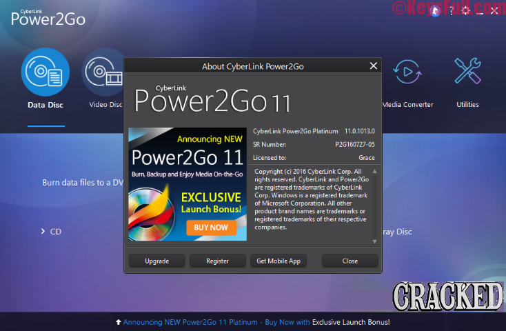 CyberLink Power2Go 11 Platinum Crack + Activation Key