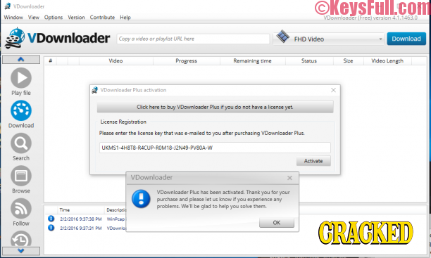 VDownloader Plus 4.5 Full Crack Free Download