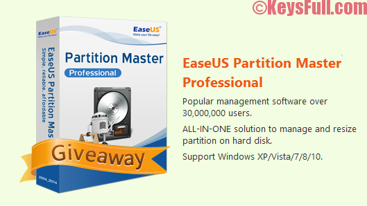 EaseUS Partition Master Professional 11.10 Serial Key