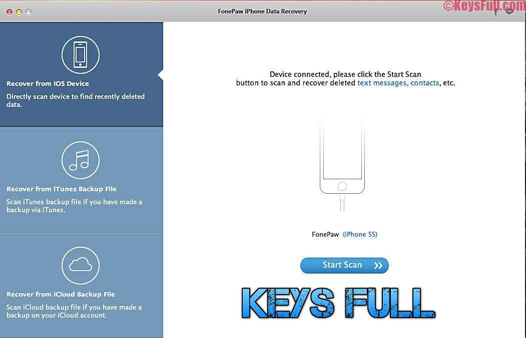 FonePaw iPhone Data Recovery 3.6.0 Full + Registration Code