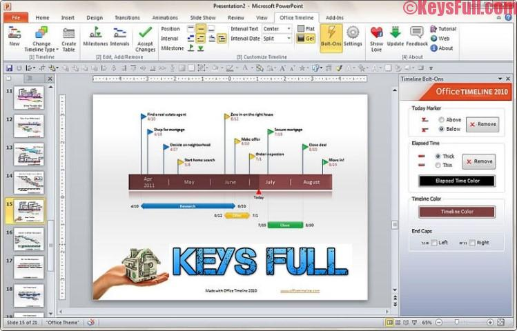 Office Timeline 3.12.1 Product Key + Crack Free Download