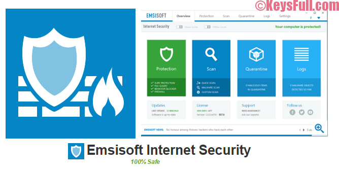 Emsisoft Internet Security 2017.3.1 License Key Available