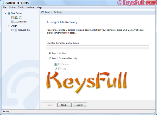 Auslogics File Recovery 8.0.1.0 License Key 2018