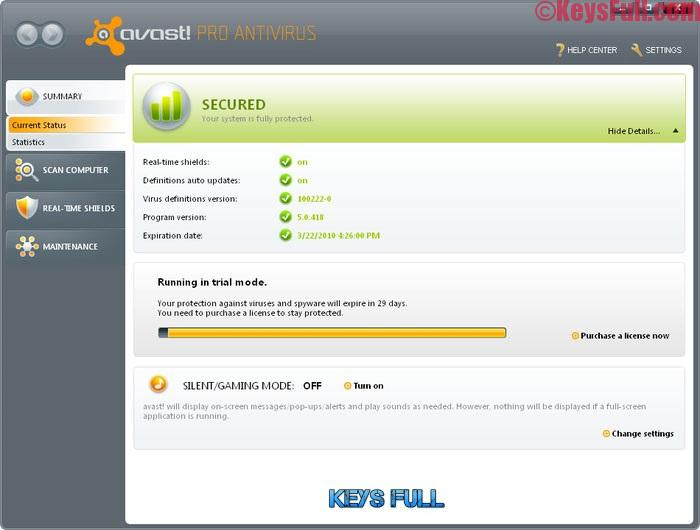 Avast Pro Antivirus 17.5.2302 Final Activation Key is Here