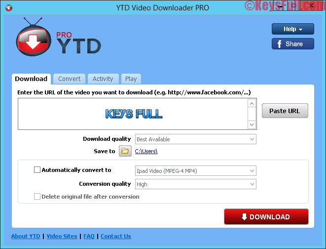 YTD Video Downloader Pro 5.8.6 Full Crack Download