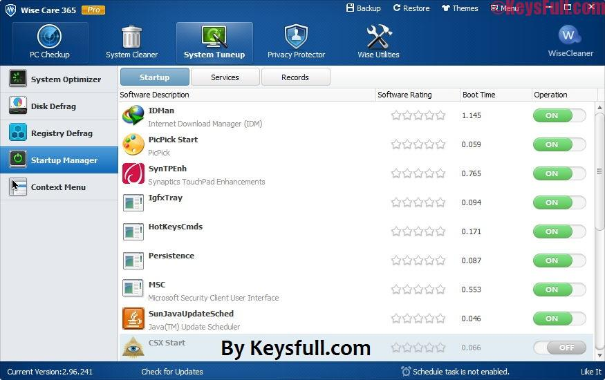 Wise Care 365 Pro 4.76 Build 459 Full Crack