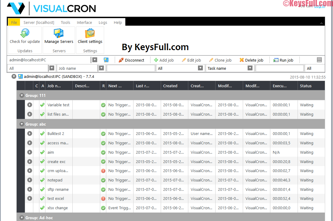 VisualCron 8.3.2 Crack + Keygen is Here!