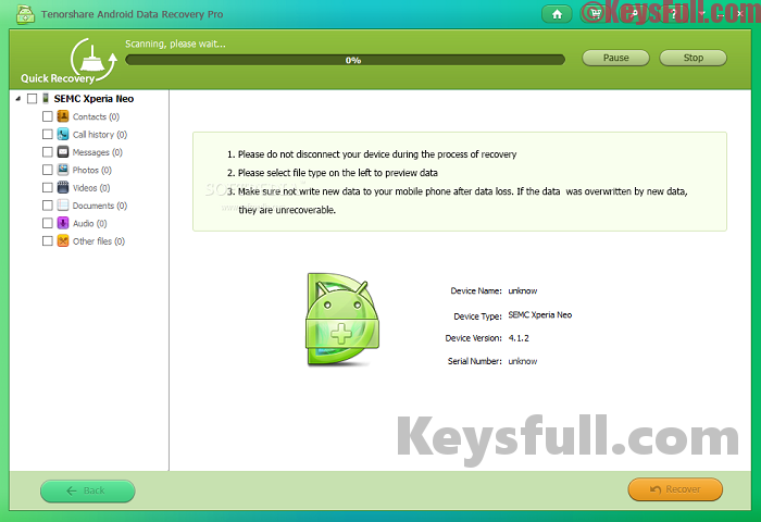 Tenorshare Android Data Recovery Pro 5.2.0.0 Crack