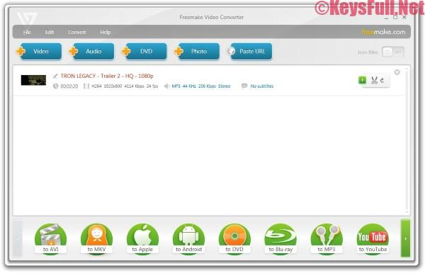 Freemake Video Converter 4.1.10 Serial Key