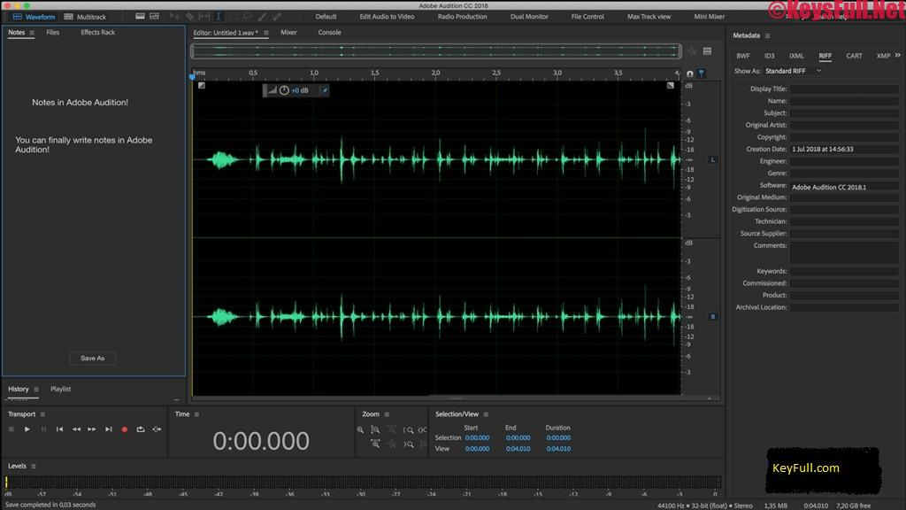 Adobe Audition CC 2020 Build 13.0.5.36 Crack + MacOS